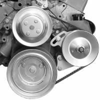 Power Steering Pump Mounts - Block Mount Brackets - Alan Grove Components - Alan Grove Components Power Steering Bracket for Canister Pump - SB Chevy - Long Water Pump - LH