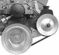 Power Steering Pump Mounts - Block Mount Brackets - Alan Grove Components - Alan Grove Components Power Steering Bracket - SB Chevy - Electric Water Pump - LH