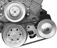 Power Steering Pump Mounts - Block Mount Brackets - Alan Grove Components - Alan Grove Components Power Steering Bracket - 55-57 Chevy SB - LH