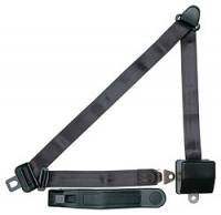 Safety Equipment - Seat Belts & Harnesses - Allstar Performance - Allstar Performance Seatbelt 3-Point Retractable Charcoal