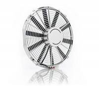 "Electric Fans - Be Cool Electric Fans - Be Cool - Be Cool 16"" Chrome Plated- High Torque- Electric"