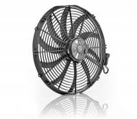 "Cooling & Heating - Be Cool - Be Cool 16"" Euro Black Electric Fan Super Duty Puller"
