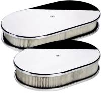 Air & Fuel System - Billet Specialties - Billet Specialties Small Oval Air Cleaner Assembly - Polished - Plain Design - 2 in. Filter Height