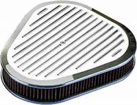 Air Cleaner Assemblies - Triangle Air Cleaner Assemblies - Billet Specialties - Billet Specialties Triangle Air Cleaner Assembly - Polished - Ball Milled Design - 2 5/16 in. Filter Height