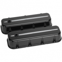 Valve Covers & Accessories - Aluminum Valve Covers - BB Chevy - Billet Specialties - Billet Specialties BB Chevy Tall Valve Covers Black