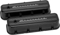Valve Covers & Accessories - Aluminum Valve Covers - BB Chevy - Billet Specialties - Billet Specialties BB Chevy Tall Valve Cover Chevrolet Script Black
