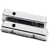 Valve Covers & Accessories - Aluminum Valve Covers - SB Chevy - Billet Specialties - Billet Specialties Polished SB Chevy Short Valve Covers - Ball-Milled - SB Chevy - (Set of 2)