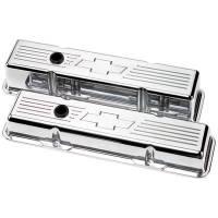 Valve Covers & Accessories - Aluminum Valve Covers - SB Chevy - Billet Specialties - Billet Specialties SB Chevy Bowtie Tall Valve Covers