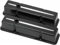 Valve Covers & Accessories - Aluminum Valve Covers - SB Chevy - Billet Specialties - Billet Specialties SB Chevy Tall Valve Covers Black