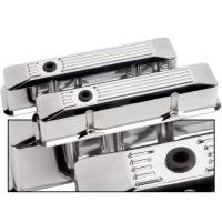 Valve Covers & Accessories - Aluminum Valve Covers - SB Chevy - Billet Specialties - Billet Specialties SB Chevy Ribbed Valve Covers - SB Chevy - (Set of 2)