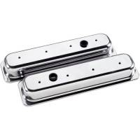 Valve Covers & Accessories - Aluminum Valve Covers - SB Chevy - Billet Specialties - Billet Specialties SB Chevy Center Bolt Valve Covers - Stock Height - Polished - SB Chevy - (Set of 2)
