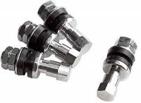 Wheel Parts & Accessories - Valve Stems - Billet Specialties - Billet Specialties Chrome Bolt-in Valve Stems - (Set of 4)