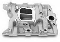 Intake Manifolds - Intake Manifolds - Pontiac - Edelbrock - Edelbrock Performer Pontiac Intake Manifold - Polished Finish
