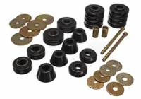 Installation Accessories - Body Mount Bushings - Energy Suspension - Energy Suspension Body Cab Mount Set - Black