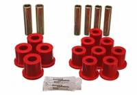Ford F-250 / F-350 Suspension - Ford F-250 / F-350 Leaf Spring Bushings - Energy Suspension - Energy Suspension Leaf Spring Bushing Set - Red