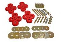 Installation Accessories - Body Mount Bushings - Energy Suspension - Energy Suspension Body Cab Mount Set - Red