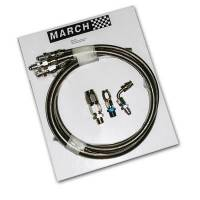 Power Steering Hose & Fittings - Power Steering Hose Kits - March Performance - March Performance Stainless Steel Braided Power Steering Hose Kit