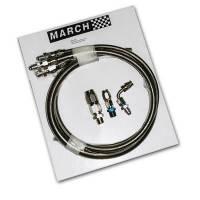 Power Steering Hose & Fittings - Power Steering Hose Kits - March Performance - March Performance Stainless Steel Braided Power Steering Hose Kit