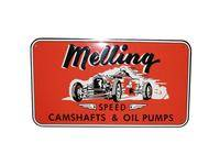 Crew Apparel & Collectibles - Melling Engine Parts - Melling 1950 Nostalgic Metal Sign - Red (Race Car)