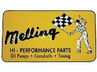 Crew Apparel & Collectibles - Melling Engine Parts - Melling 1960 Nostalgic Metal Sign - Yellow (Flag Man)