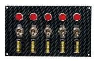 Switch Panels - Moroso Switch Panels - Moroso Performance Products - Moroso Fiber Design Switch Panel - Black/Black