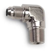 90° Male Pipe Thread to Male AN - 90° Male NPT to Male AN - Nickel Plated - Russell Performance Products - Russell Endura Adapter Fitting #4 to 1/8 NPT 90