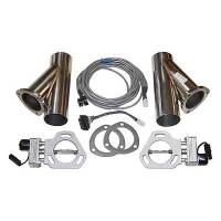 "Pypes Performance Exhaust - Pypes Performance Exhaust 2.5"" Dual Exhaust Cutout Kits (Set of 2) w/ YPipe"