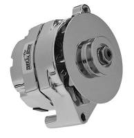 Ignition & Electrical System - Tuff Stuff Performance - Tuff Stuff Ford Alternator 100 Amp Chrome 1 Groove Pulley