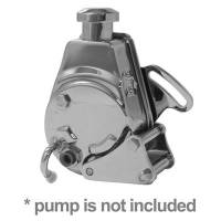 Power Steering Pumps - Power Steering Pump Mounts - Tuff Stuff Performance - Tuff Stuff BB Chevy Power Steering Bracket Long Water Pump Chrome