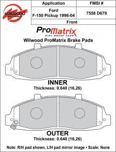 1996-2004 Ford F-150 D679 Pads (D679)