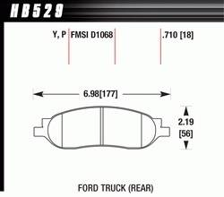 Disc Brake Pads - Brake Pad Sets - Truck - 2005-07 Ford Super Duty Truck D1068 Pads (D1068)
