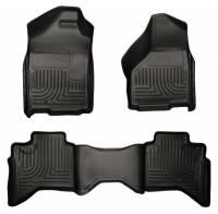 Dodge Ram 2500HD/3500 - Dodge Ram 2500HD/3500 Interior and Accessories - Husky Liners - Husky Liners WeatherBeater Floor Liner - Black