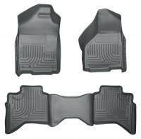 Dodge Ram 2500HD/3500 - Dodge Ram 2500HD/3500 Interior and Accessories - Husky Liners - Husky Liners WeatherBeater Floor Liner - Gray