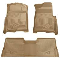 Ford F-250 / F-350 - Ford F-250 / F-350 Interior and Accessories - Husky Liners - Husky Liners WeatherBeater Floor Liner - Tan