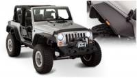 Jeep Wrangler JK Exterior Components - Jeep Wrangler JK Fender Flares and Components - Bushwacker - Bushwacker Flat Style Fender Flares - Front / Rear