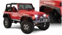 Jeep Wrangler TJ Exterior Components - Jeep Wrangler TJ Fender Flares and Components - Bushwacker - Bushwacker Flat Style Fender Flares - Front / Rear