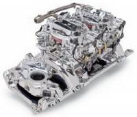Carburetors - Street Performance - Edelbrock Dual-Quad Carburetor & Intake Manifold Kits - Edelbrock - Edelbrock RPM Air-Gap Dual-Quad Intake Manifold / Carburetor Kit - Endurashine