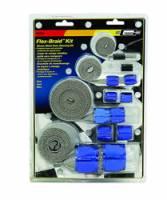 Hose & Fitting Accessories - Hose Covers - Mr. Gasket - Mr. Gasket Flex-Braid Hose Sleeving Kit - Blue