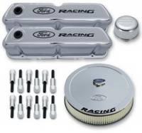 Engine Components - Engine Dress-Up Kits - Proform Performance Parts - Proform Ford Deluxe Engine Dress-Up Kit - Black Crinkle w/ Red Emblems