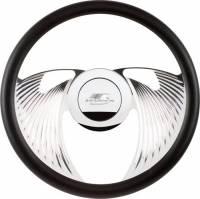 Billet Specialties Steering Wheels - Billet Specialties Billet Steering Wheels - Billet Specialties - Billet Specialties Half Wrap Steering Wheel - Eagle - Polished - 2-Spoke - Fluted - 14 in. Diameter