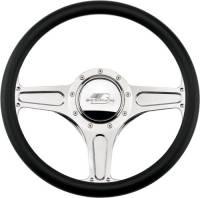 Billet Specialties Steering Wheels - Billet Specialties Billet Steering Wheels - Billet Specialties - Billet Specialties Street Lite Steering Half Wrap Steering Wheel - Polished - 3-Spoke - 14 in. Diameter