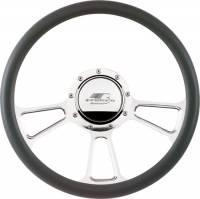 Billet Specialties Steering Wheels - Billet Specialties Billet Steering Wheels - Billet Specialties - Billet Specialties Half Wrap Steering Wheel - Vintec - Polished - 3-Spoke - 14 in. Diameter
