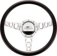 Billet Specialties Steering Wheels - Billet Specialties Billet Steering Wheels - Billet Specialties - Billet Specialties Half Wrap Steering Wheel - Outlaw - Polished - 3-Spoke - 14 in. Diameter