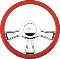 Billet Specialties Steering Wheels - Billet Specialties Billet Steering Wheels - Billet Specialties - Billet Specialties Chicayne Half Wrap Steering Wheel - Polished - 3-Spoke - 14 in. Diameter
