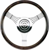 Billet Specialties Steering Wheels - Billet Specialties Billet Steering Wheels - Billet Specialties - Billet Specialties Half Wrap Steering Wheel - Banjo - Polished - 3-Spoke - 14 in. Diameter