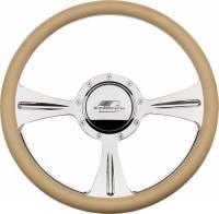 Billet Specialties Steering Wheels - Billet Specialties Billet Steering Wheels - Billet Specialties - Billet Specialties GTX01 Half Wrap Steering Wheel - Polished - 3-Spoke - 14 in. Diameter