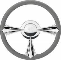 Billet Specialties Steering Wheels - Billet Specialties Billet Steering Wheels - Billet Specialties - Billet Specialties Stiletto Steering Wheel - 3-Spoke - 14 in. Diameter