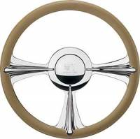 Billet Specialties Steering Wheels - Billet Specialties Profile Steering Wheels - Billet Specialties - Billet Specialties Rail Steering Wheel - 3-Spoke