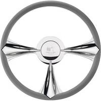 Billet Specialties Steering Wheels - Billet Specialties Profile Steering Wheels - Billet Specialties - Billet Specialties Stiletto Steering Wheel 3-Spoke - 15.5 in. Diameter