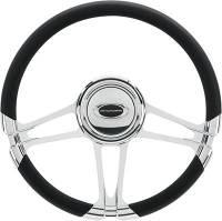 """Billet Specialties Steering Wheels - Billet Specialties Select Edition Steering Wheels - Billet Specialties - Billet Specialties 14"""" Monaco Steering Wheel Half Wrap"""